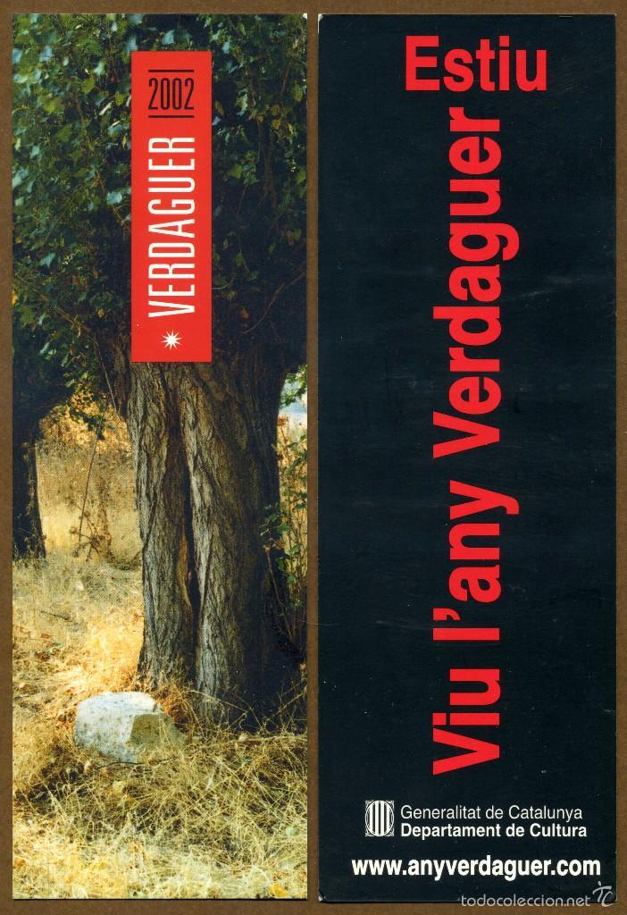 MARCAPÁGINAS ANY VERDAGUE 2002 ESTIU (Coleccionismo - Marcapáginas)