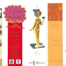 Coleccionismo Marcapáginas: MARCAPÁGINAS. LOTE DE 35. TEMA MUSEOS, GALERÍAS, ARTISTAS Y DISEÑADORES. Lote 58518245