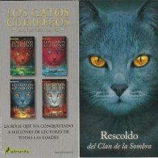 Coleccionismo Marcapáginas: MARCAPÁGINAS SALAMANDRA LOS GATOS GUERRÉROS RESCOLDO. Lote 58775541