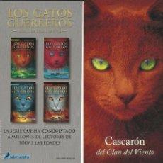 Coleccionismo Marcapáginas: MARCAPÁGINAS SALAMANDRA LOS GATOS GUERREROS CASCARÓN DEL CLAN DEL VIENTO. Lote 58775726