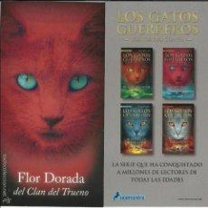 Coleccionismo Marcapáginas: MARCAPÁGINAS SALAMANDRA LOS GATOS GUERREROS FLOR DORADA DEL CLAN DEL TRUENO. Lote 58776061