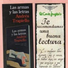 Coleccionismo Marcapáginas: BONITO MARCAPÁGINAS DE EDICIÓN DESTINO TÍTULO LAS ARMAS Y LAS LETRAS . Lote 59973735