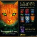 Coleccionismo Marcapáginas: MARCAPÁGINAS SALAMANDRA LOS GATOS GUERREROS - TORMENTA DE ARENA. Lote 160010496