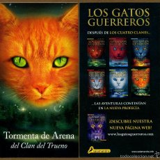 Coleccionismo Marcapáginas: MARCAPÁGINAS SALAMANDRA LOS GATOS GUERREROS - TORMENTA DE ARENA. Lote 221612768