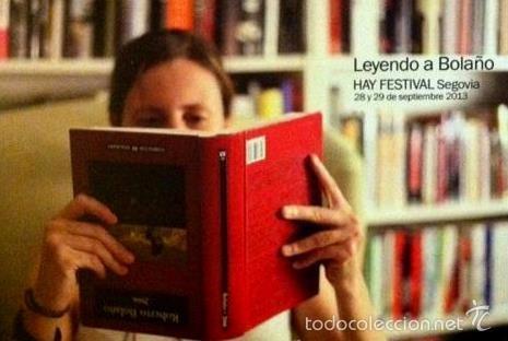 LEYENDO A BOLAÑO - FORMATO POSTAL (Coleccionismo - Marcapáginas)