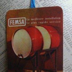 Coleccionismo Marcapáginas: MARCAPÁGINAS COLECCIÓN ANUARIO TELÉFONICO 1954 1955 PUBLICIDAD FEMSA-FEMEX ENVASES METÁLICOS. Lote 62251684