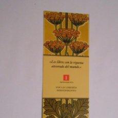 Coleccionismo Marcapáginas: MARCAPAGINAS LOS LIBROS SON LA RIQUEZA ATESORADA DEL MUNDO. TDKP8. Lote 62454080