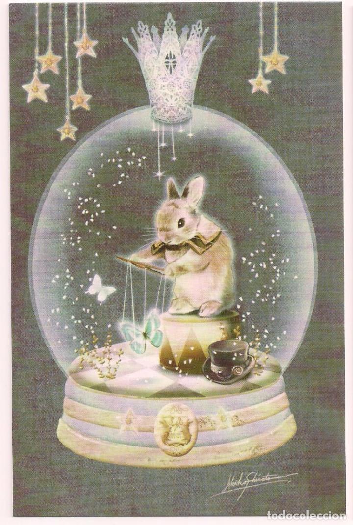 Marcapagina tama o postal dibujo conejo conejit comprar - Bola nieve cristal ...