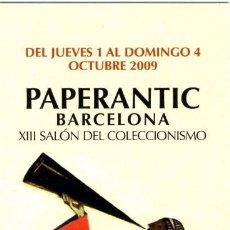 Coleccionismo Marcapáginas: MARCAPAGINA PAPERANTIC BARCELONA XXI SALON DEL COLECCIONISMO 2009 EN CASTELLANO. Lote 65013851