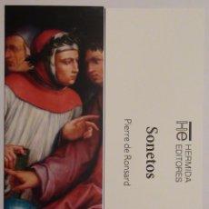 Coleccionismo Marcapáginas: MARCAPÁGINAS EDITORIAL:HERMIDA.SONETOS.. Lote 98803035