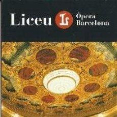 Coleccionismo Marcapáginas: MARCÀPAGINAS DEL LICEO DE BARCELONA TEMPORADA 2.013 - 14. Lote 294117608