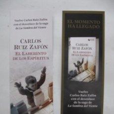Coleccionismo Marcapáginas: MARCAPAGINAS EL LABERINTO DE LOS ESPIRITUS - CARLOS RUIZ ZAFON - ED PLANETA. Lote 85200883