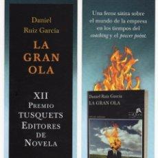 MARCAPÁGINAS - TUSQUETS EDITORES - LA GRAN OLA