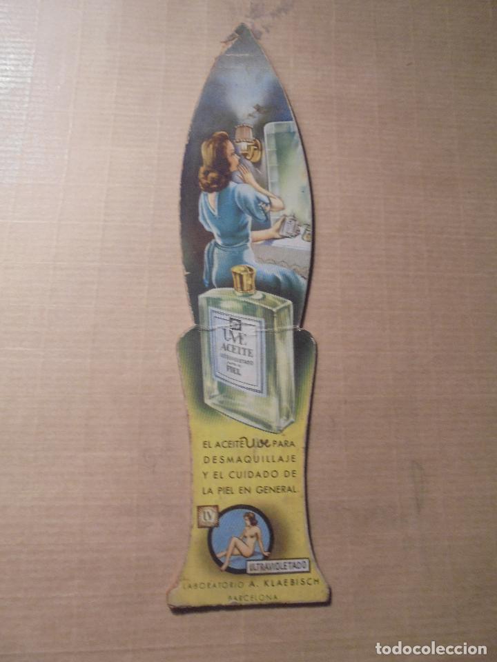 Coleccionismo Marcapáginas: ANTIGUO MARCAPAGINAS , PASTA DE DENTRIFICA DENTICHLOR , UVE ACEITE , LAVORATORIO A. KLAEBISCH BARCEL - Foto 2 - 67862357