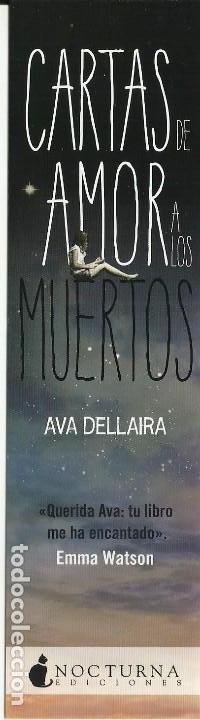 MARCÀPGINAS EDITORIAL NOCTURNA CARTAS DE AMOR A LOS MUERTOS (Coleccionismo - Marcapáginas)