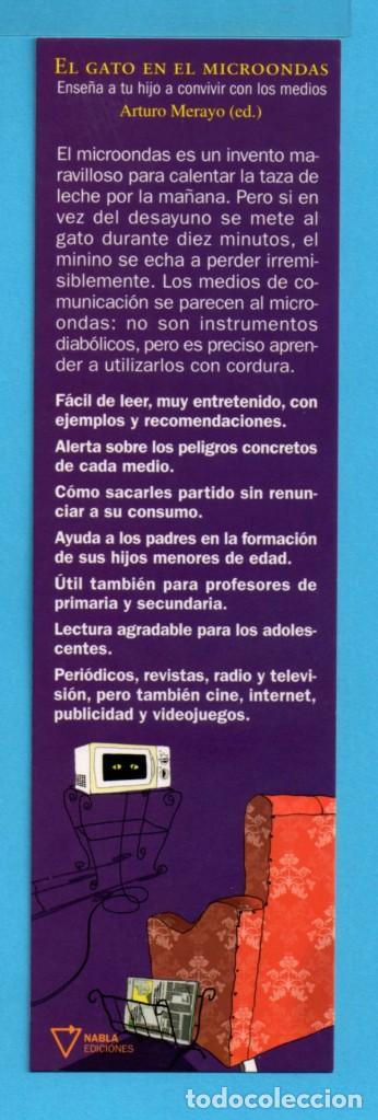 PUNTOS DE LIBROS DE NABLA FANTASTIKA EL GATO EN EL MICROONDAS (Coleccionismo - Marcapáginas)