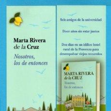 Coleccionismo Marcapáginas: PUNTOS DE LIBROS DE PLANETA NOSOTROS DE LA CRUZ . Lote 71465315