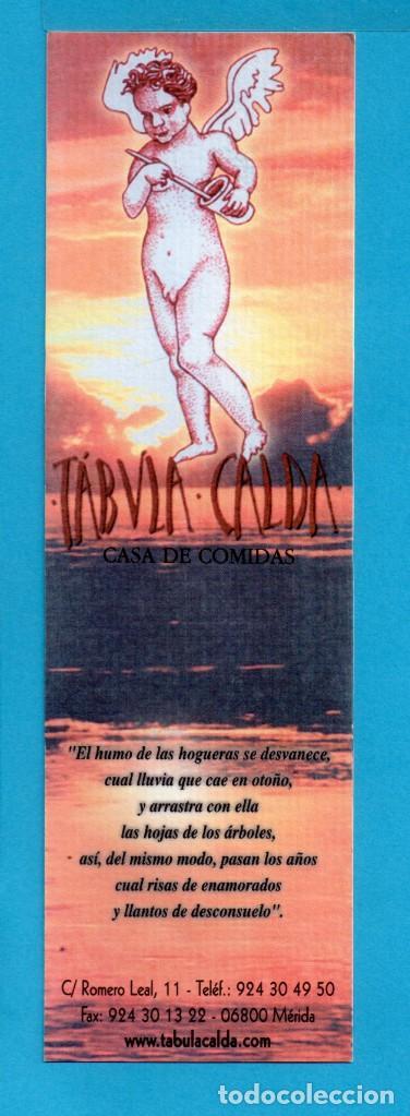 PUNTO DE LIBRO CASA DE COMIDAS TABULA CALDA (Coleccionismo - Marcapáginas)