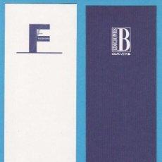 Coleccionismo Marcapáginas: FICCIONARIO. EDICIONES B. PUNTO DE LIBRO / MARCAPÁGINAS. Lote 72561655
