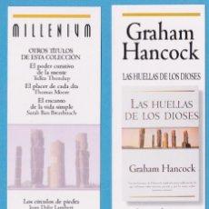 Coleccionismo Marcapáginas: LAS HUELLAS DE LOS DIOSES. GRAHAM HANCOCK. MILLENIUM. EDICIONES B. PUNTO DE LIBRO. Lote 176542873