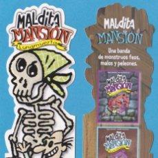 Coleccionismo Marcapáginas: MALDITA MANSIÓN. LUNAMUERTA. EDICIONES B. PUNTO DE LIBRO / MARCAPÁGINAS TROQUELADO. Lote 114246856