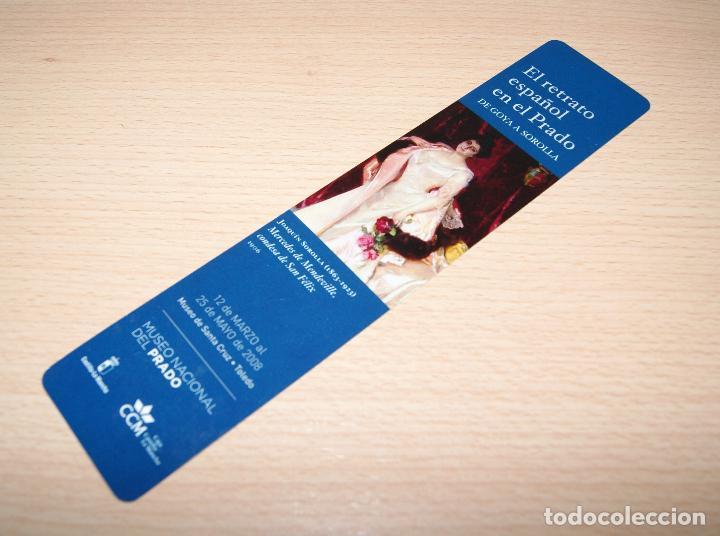 Coleccionismo Marcapáginas: Marcapáginas El retrato Español en el Prado - 2008 De Goya a Soroya - Foto 2 - 73452095