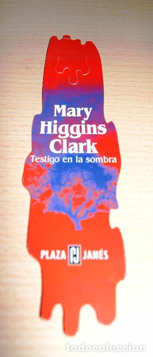 MARCAPÁGINAS PLAZA JANÉS TESTIGO EN LA SOMBRA (Coleccionismo - Marcapáginas)