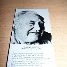 Coleccionismo Marcapáginas: MARCAPÁGINAS GABRIEL CELAYA. EDICIONES DE LA TORRE. Lote 73452751