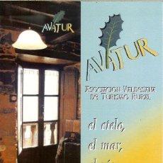 Coleccionismo Marcapáginas: MARCAPÁGINAS - AVATUR - ASOCIACIÓN VALDESANA DE TURISMO RURAL (ASTURIAS). Lote 73805727