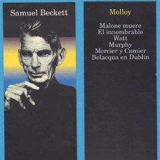 Coleccionismo Marcapáginas: MOLLOY. SAMUEL BECKETT. EDITORIAL LUMEN. PUNTO DE LIBRO, MARCAPÁGINAS. Lote 288006888