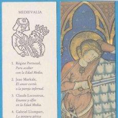 Coleccionismo Marcapáginas: MEDIEVALIA. JOSÉ J. DE OLAÑETA, EDITOR. PUNTO DE LIBRO. Lote 176531139