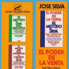 Coleccionismo Marcapáginas: EL PODER DE LA VENTA. EL MÉTODO SILVA. JOSÉ SILVA. JAVIER VERGARA EDITOR. PUNTO DE LIBRO. Lote 222312773