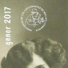 Coleccionismo Marcapáginas: MARCAPAGINAS ASOCIACIÓN DE COLECCIONÍSTAS DE MOLLET ENERO 2.017. Lote 85782315