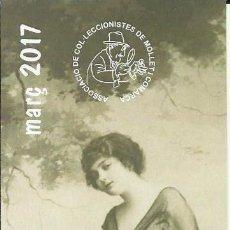 Coleccionismo Marcapáginas: MARCAPAGINAS ASOCIACIÓN DE COLECCIONISTAS DE MOLLET MARZO 2.017. Lote 85782366