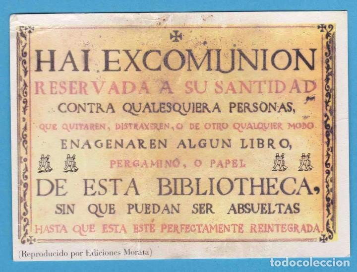 HAI EXCOMUNIÓN. REPRODUCIDO POR EDICIONES MORATA. PUNTO DE LIBRO (Coleccionismo - Marcapáginas)