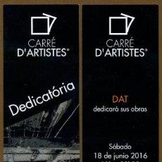 Coleccionismo Marcapáginas: MARCAPÁGINAS CARRE D'ARTISTES - BARCELONA. Lote 87446188
