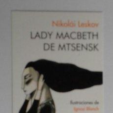 Coleccionismo Marcapáginas: MARCAPÁGINAS EDITORIAL:NORDICA.LADY MACBECTH DE MTSENSK.. Lote 98807848