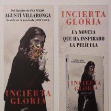 Coleccionismo Marcapáginas: MARCAPÁGINAS EDITORIAL:AUSTRAL.INCIERTA GLORIA.. Lote 95819662