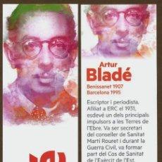 Coleccionismo Marcapáginas: MARCAPÁGINAS POLITICO ESQUERRA REPUBLICANA - ARTUR BLADE. Lote 85159076