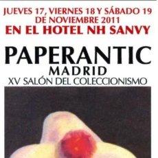 Coleccionismo Marcapáginas: -66923 MARCAPAGINAS PAPERANTIC, MADRID AÑO 2011, ARTE, PINTURA MUJER DE EPOCA. Lote 85169892