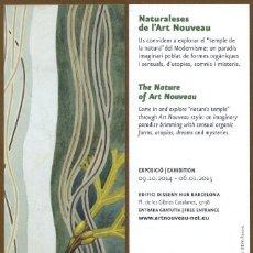 Coleccionismo Marcapáginas: MARCAPÁGINAS L'ART NOVEAU - RUTA DEL MODERNISME. Lote 85253240