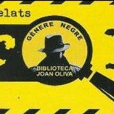 Coleccionismo Marcapáginas: MARCAPÁGINAS 3R. CONCURS DE MICRORELATS DE GERERE NEGRE . Lote 87194352