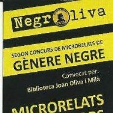 Coleccionismo Marcapáginas: MARCAPÁGINAS SEGON CONCURS DE MICRORELATS DE GERERE NEGRE. Lote 87194392
