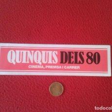 Coleccionismo Marcapáginas: ESCASO MARCAPÁGINAS BOOK MARK BOOKMARK QUINQUIS DELS 80 DE LOS 80 CINE CINEMA PREMSA PRENSA CARRER. Lote 91726730