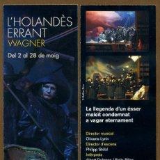 Coleccionismo Marcapáginas: MARCAPÁGINAS LICEU - L'HOLANDES ERRANT WAGNER. Lote 131559502