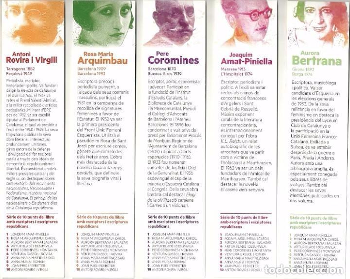 Coleccionismo Marcapáginas: 10 MARCAPÁGINAS. SERIE COMPLETA. ESCRITORES REPUBLICANOS - Foto 3 - 96798847