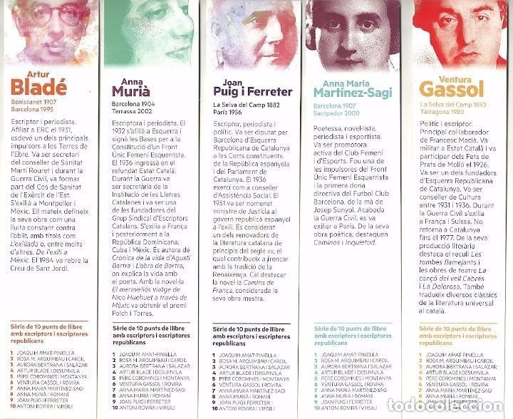 Coleccionismo Marcapáginas: 10 MARCAPÁGINAS. SERIE COMPLETA. ESCRITORES REPUBLICANOS - Foto 4 - 96798847