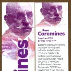 Coleccionismo Marcapáginas: MARCAPÁGINAS POLITICO ESQUERRA REPUBLICANA - PERE COROMINES. Lote 97614035