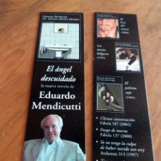 Coleccionismo Marcapáginas: MARCAPÁGINAS - EL ÁNGEL DESCUIDADO - EDUARDO MENDICUTTI - TUSQUETS. Lote 195186592