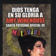 Coleccionismo Marcapáginas: A-4597- PUNTO DE LIBRO. MARCAPÁGINAS. ASOCIACION MALAVIDA. AMY WINEHOUSE SANTA PATRONA OFICIAL.. Lote 98574039